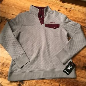 NWT Spyder quilted Pullover Sz Large